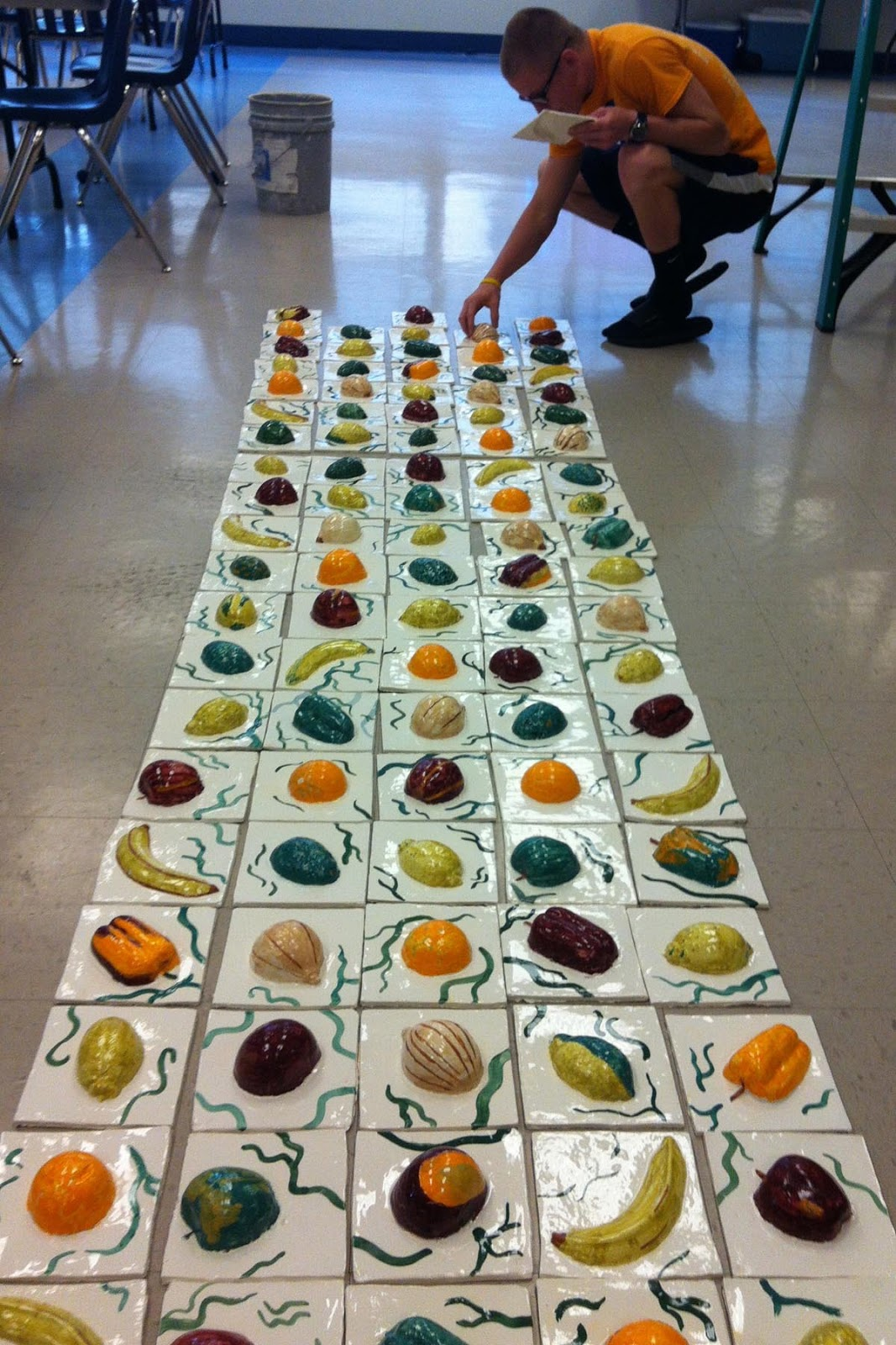 Molded Fruit And Vegetable Tiles Celebrate Healthy Eating