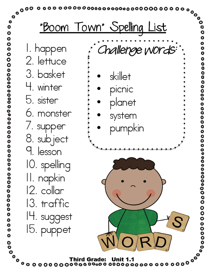 Reading Street Spelling Lists & Daily 5 Updates - One Extra Degree