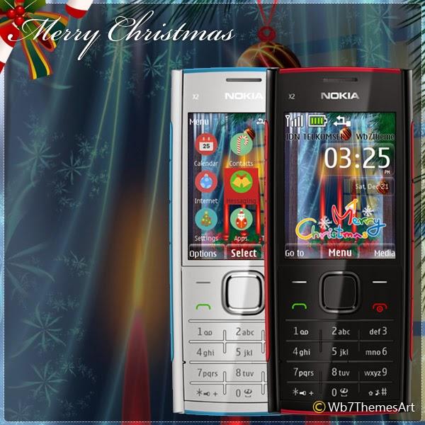 Merry Christmas theme X2-00, X2-02, X2-05, C2-05, 6303i, asha-207, asha 208, asha-301, asha-515, asha-206