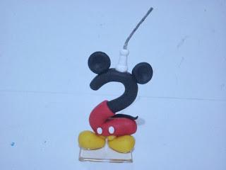 vela de biscuit mickey