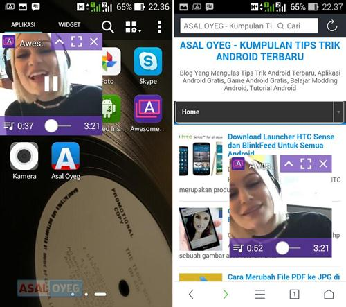 nonton video dengan layar pop-up window