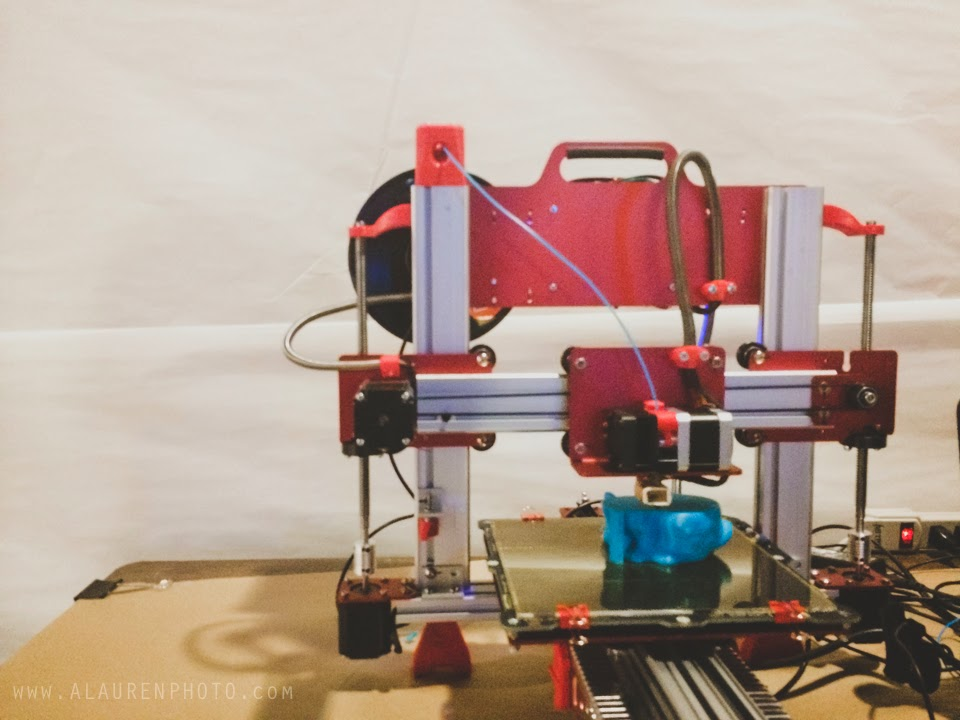 3d printing at indy indie artist colony's monsters, myth, & mayhem exhibit