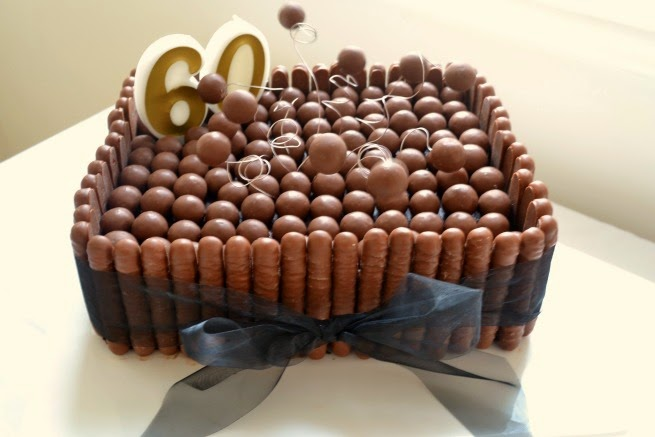Decorated Chocolate Mud Cake