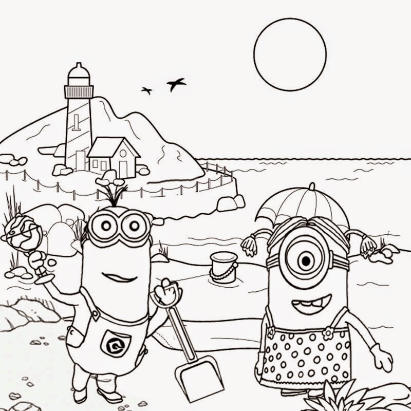 Exhilarating image regarding minion coloring pages printable