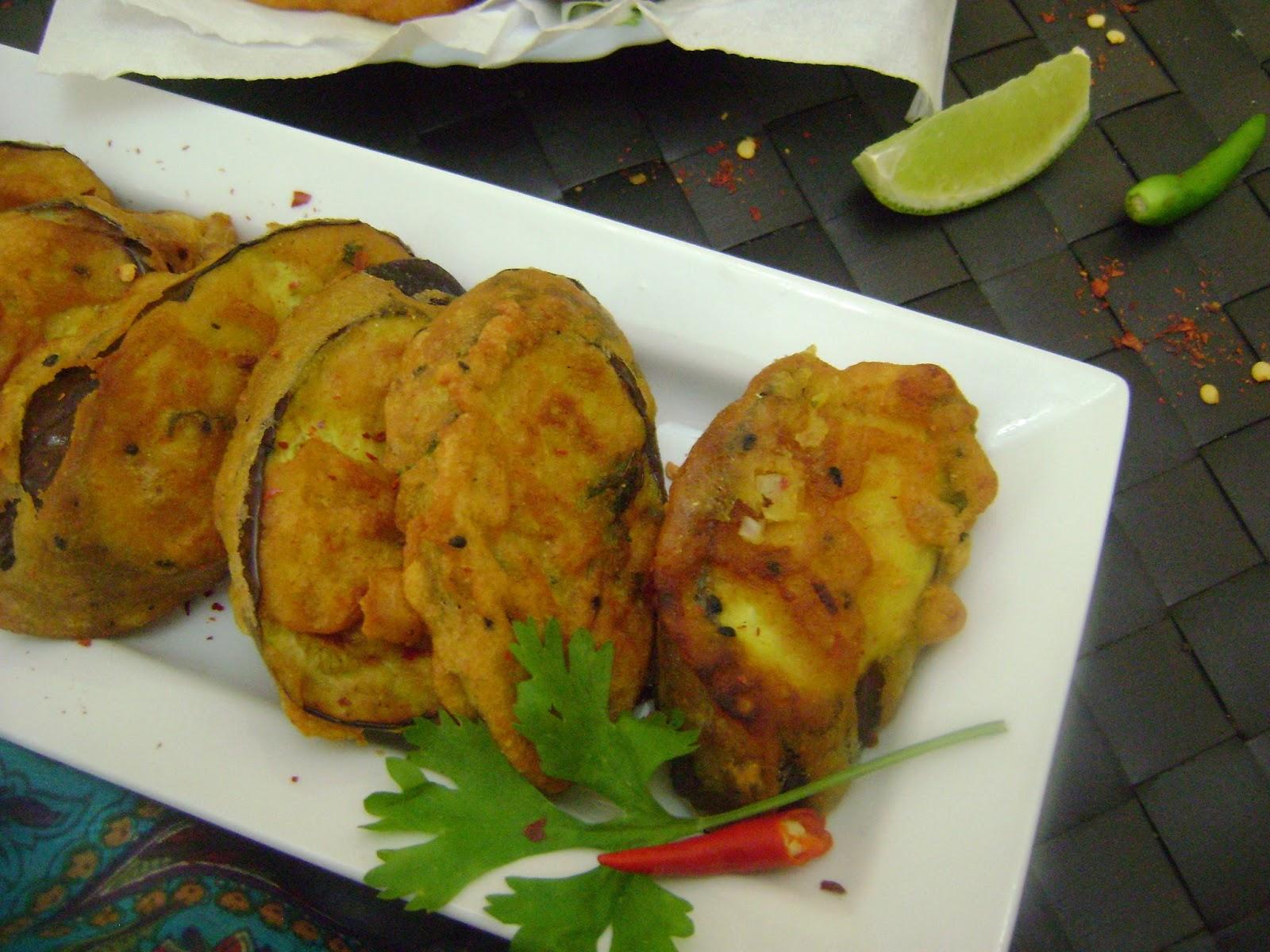 Bethica's Kitchen Flavours: Beguni (Batter Fried Eggplant ...