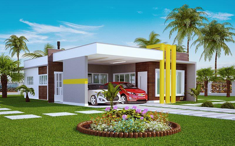 Casa com afeto fachadas modernas para casas pequenas for Fachadas de casas modernas de 2 quartos