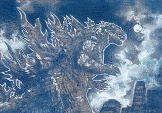 Godzilla Pencil Study by Jeff Lafferty