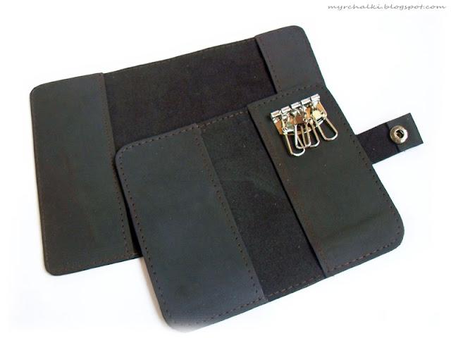ключница и обложка на паспорт из кожи