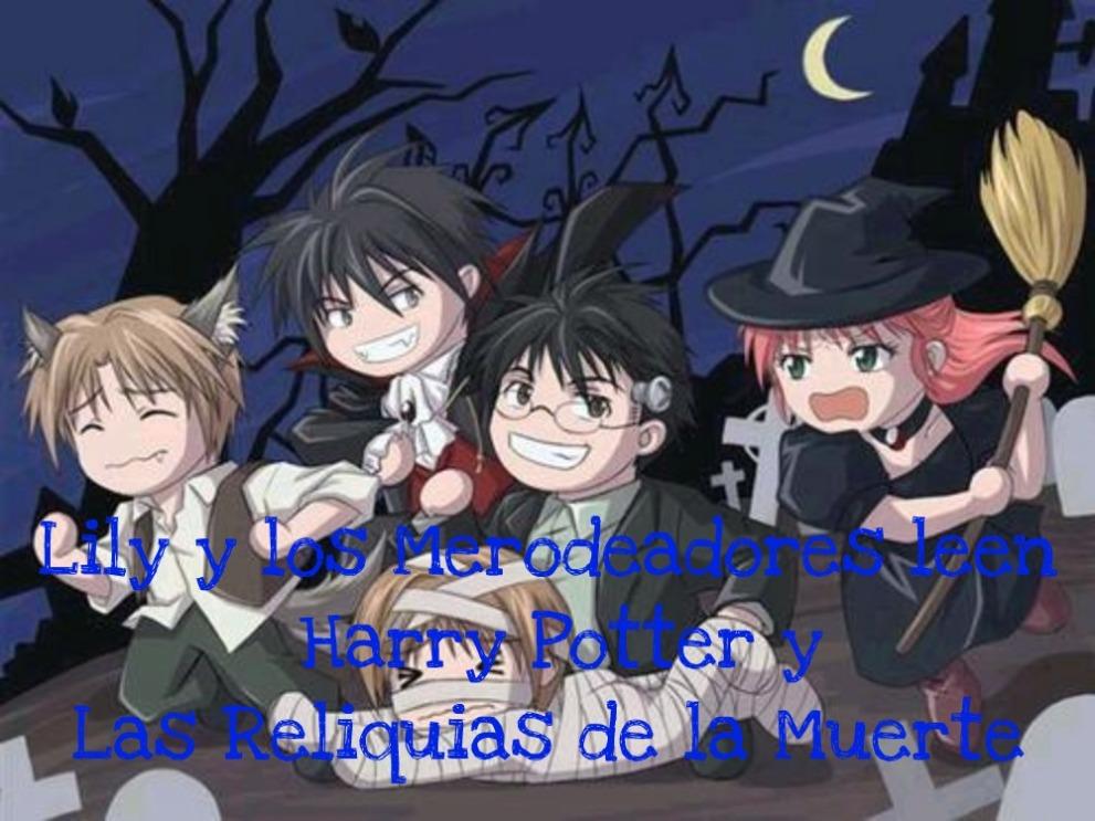 Lily y los merodeadores leen Harry Potter y Las Reliquias de la Muerte