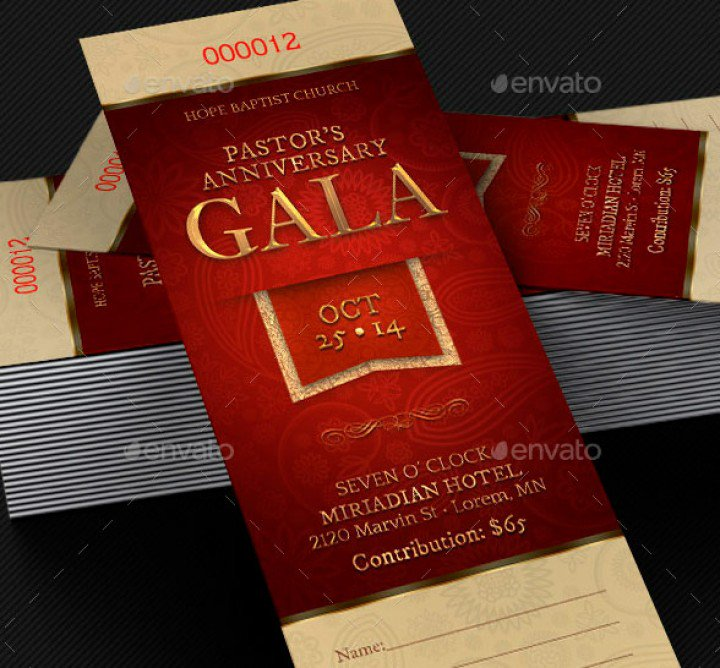Amazing Ticket Templates for Church and Fundraising Events | GraphicMule