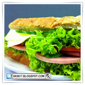 My Simple Food - Sandwiches with Ham, Cheese, Lettuce, Tomatoes, Cucumber