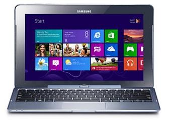 Gambar Samsung ATIV Smart PC Windows 8 Tablet dengan dock