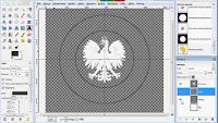 Warstwa napisu w projekcie - zrzut ekranu