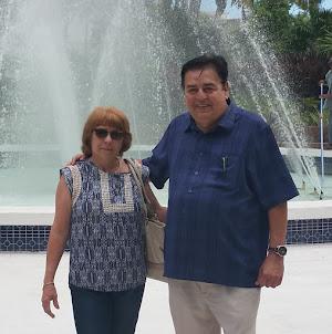 Mi esposa y yo.