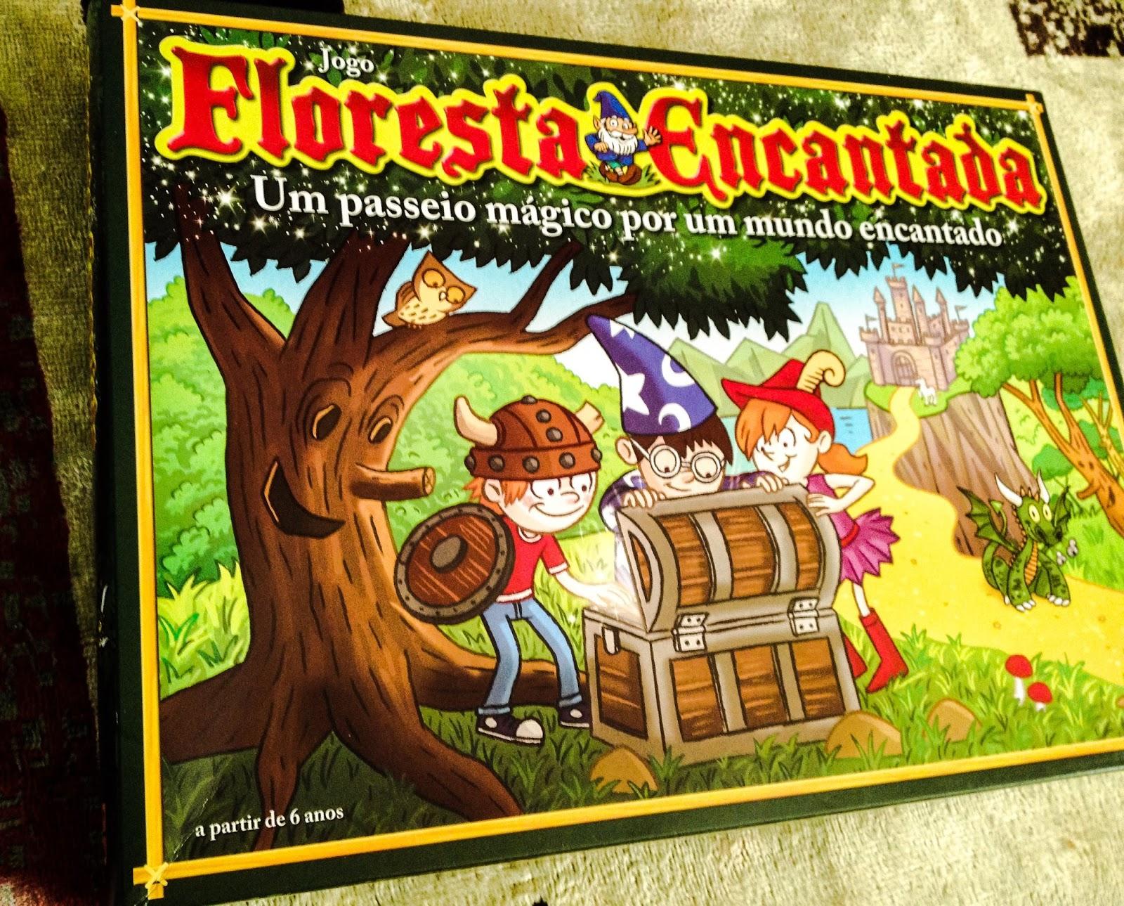 """Caixa do jogo de tabuleiro infantil """"Floresta Encantada"""", lançado pela Grow."""