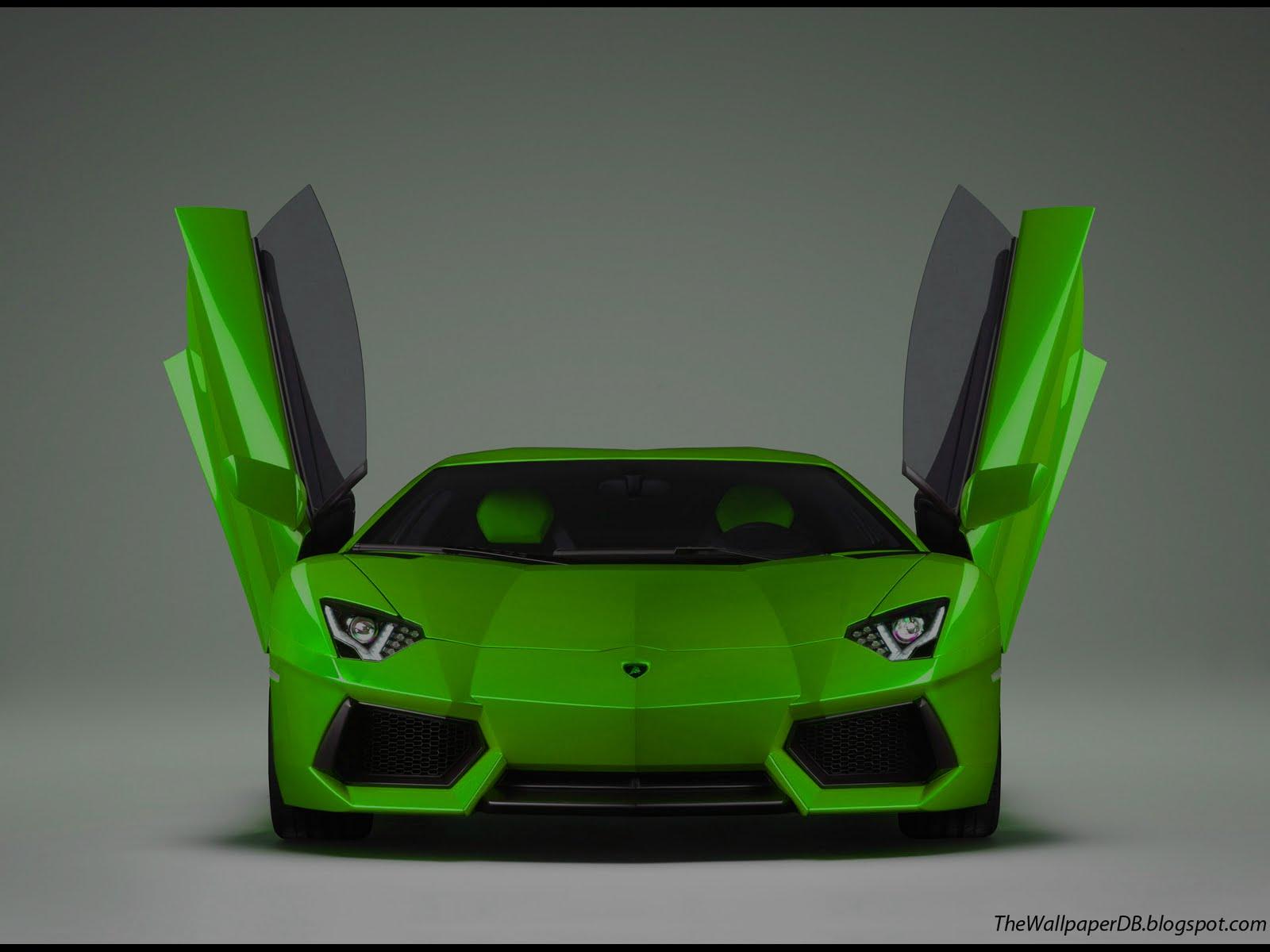 Lime Green Lamborghini Aventador