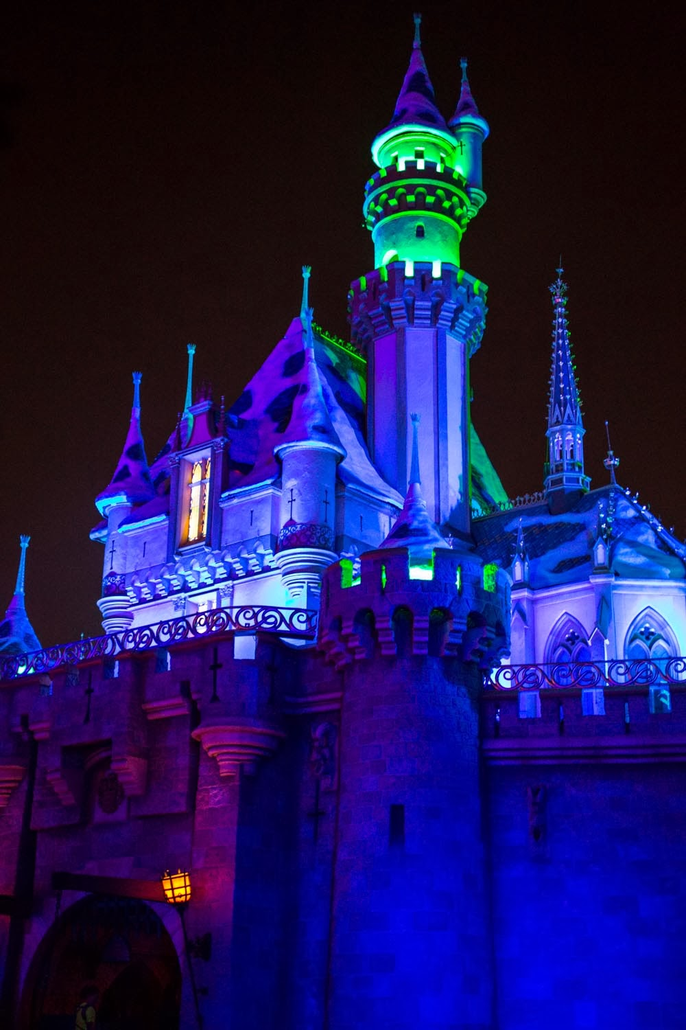 Sleeping Beauty Castle at Halloween Time