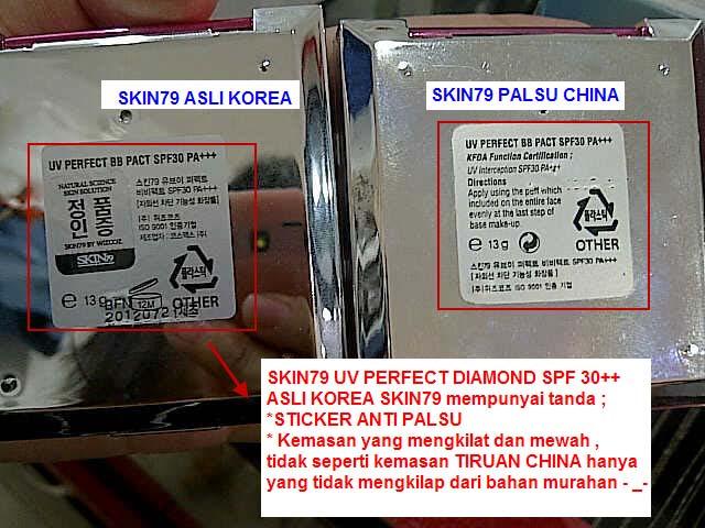 Cara membedakan bedak compact SKIN79  - diamond version ASLI KOREA dan PALSU CHINA