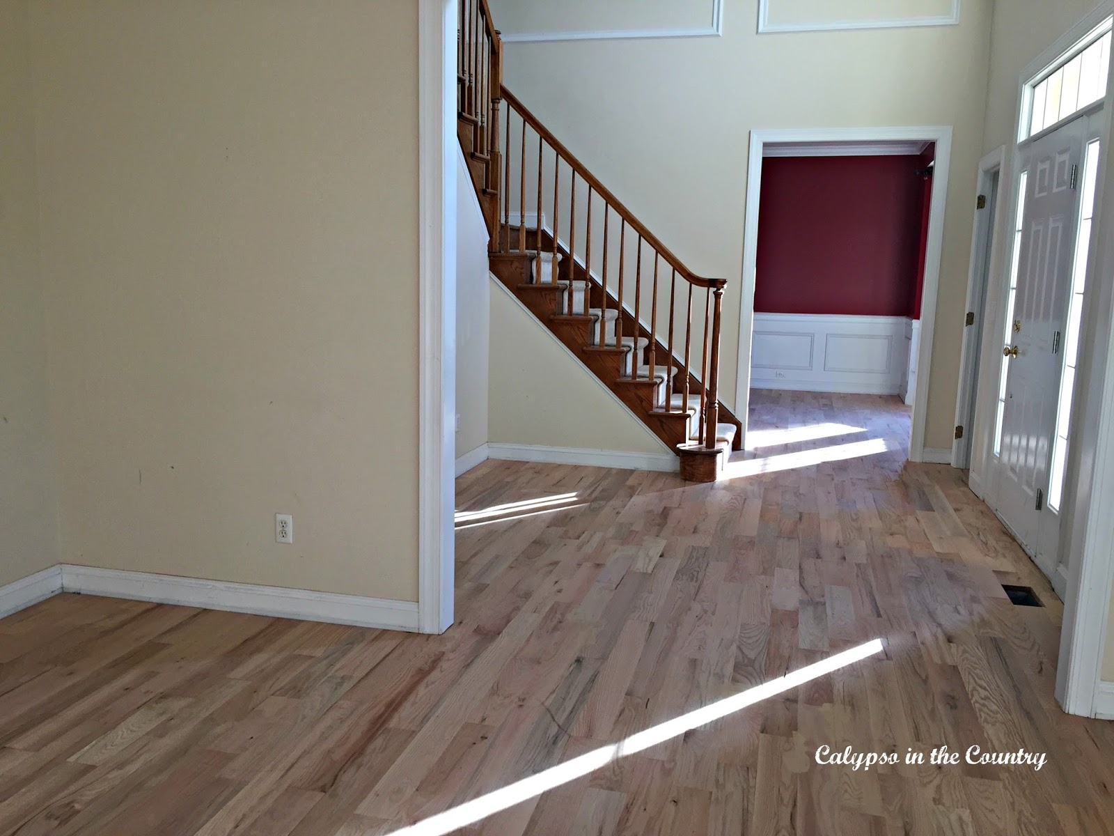 Foyer Flooring Zip : The floors are installed calypso in country