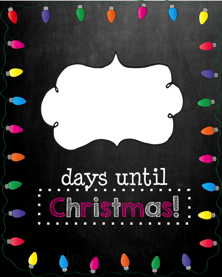 Mrs. MeGown's Second Grade Safari: Days Until Christmas-Chalkboard ...
