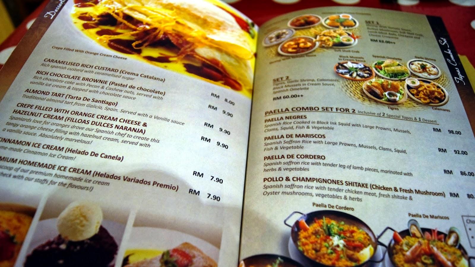 Jiaaqieats by jia qi la cocina spanish restaurant bar for Bar food la menu