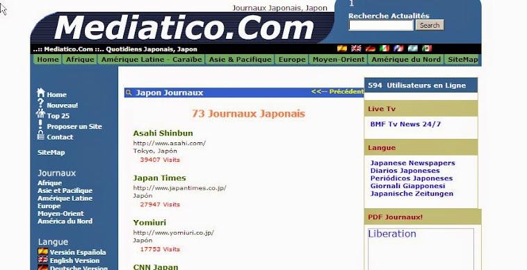 les journaux japonais