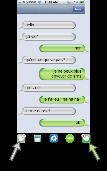 photo comment commencer sms