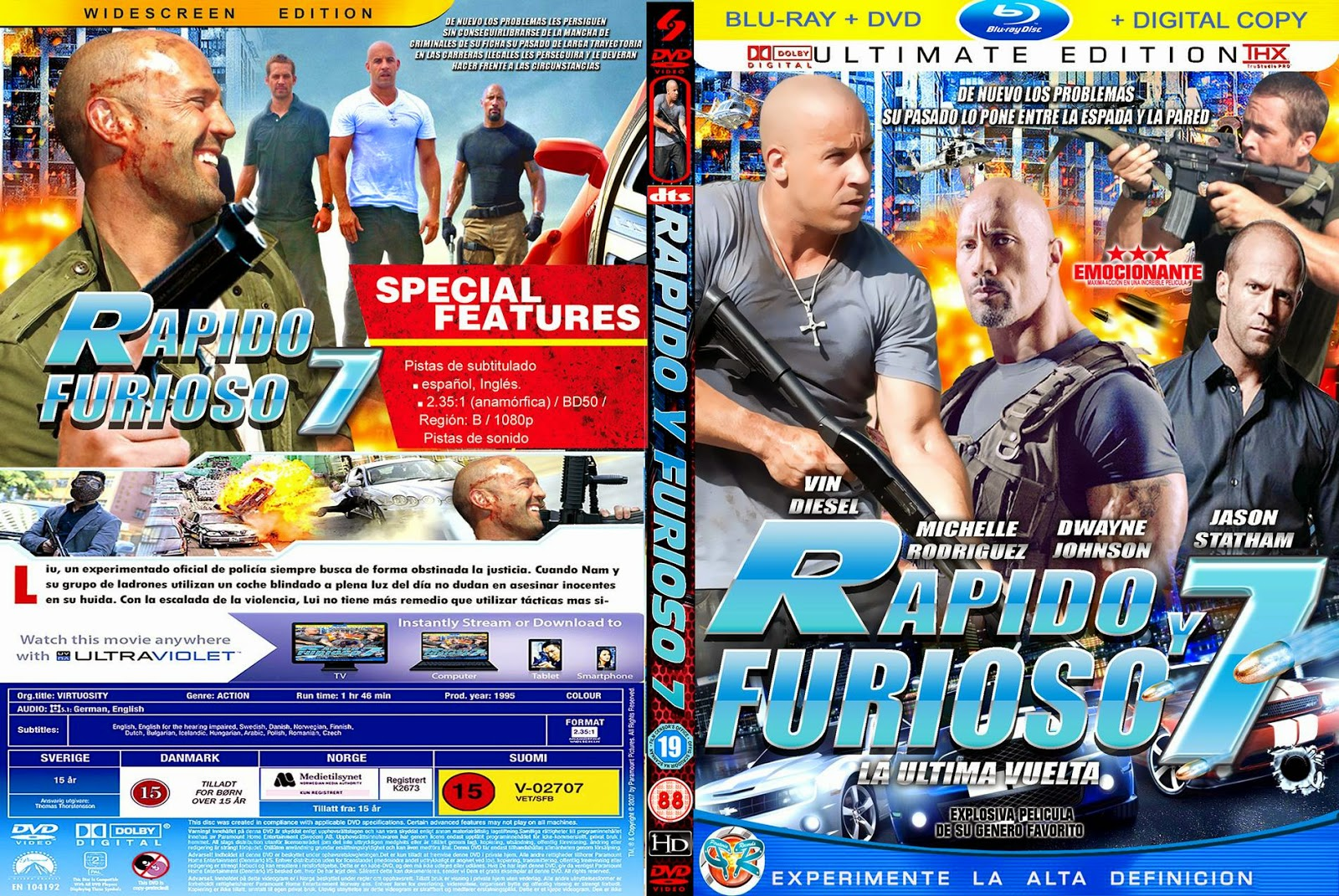 cover fast furious 7 dvd. Black Bedroom Furniture Sets. Home Design Ideas