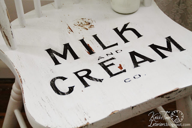 Upcycled Vintage White Chair Milk and Cream via Knick of Time