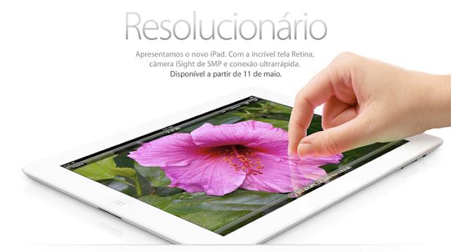 Anúncio do novo iPad