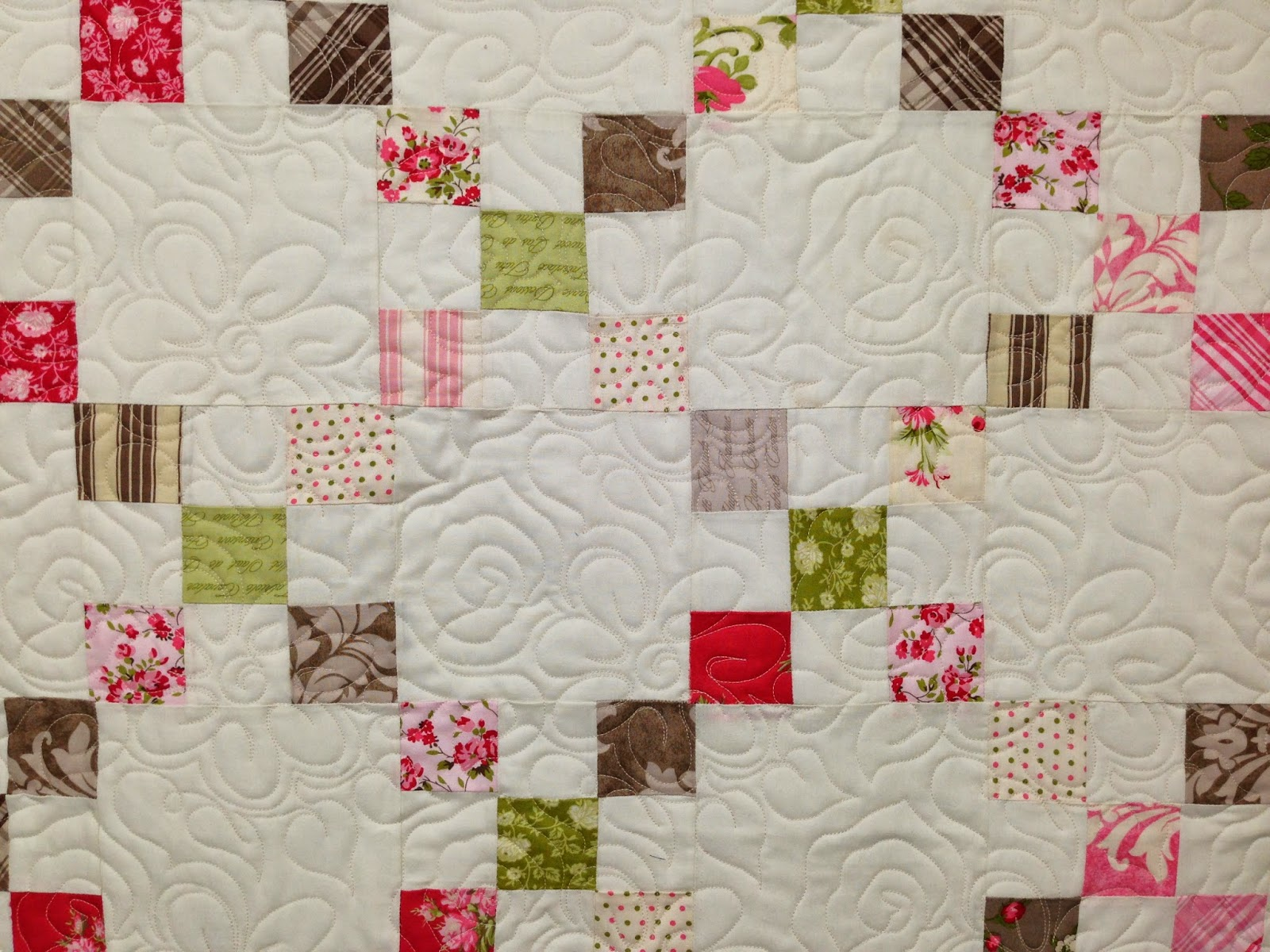 Susan Singer Scrappy Irish Chain Quilt