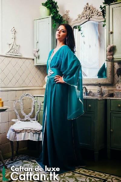 Caftan 2014 | robe de soirée bleu marine