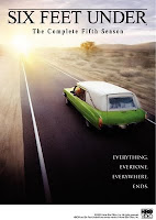 "Poster of ""Six Feet Under"" showing Claire Fisher's car on the highway"
