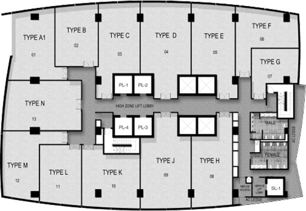 The Gateway @ Cambodia Office Floor Plan
