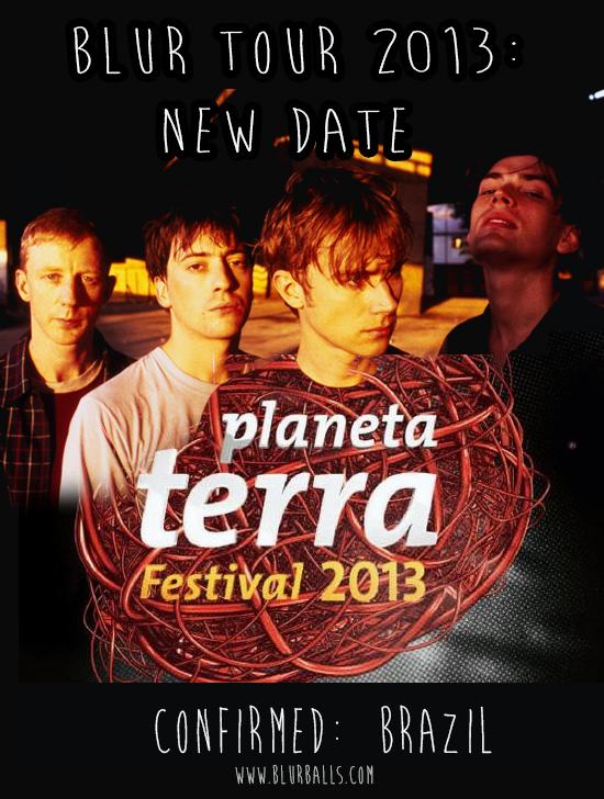 blur brazil 2013, blur brasil 2013, blur planeta terra 2013, festival planeta terra 2013, planeta terra blur, blur brazil tour, blur world tour 2013, blur date, el festival Planeta Terra de Brasil,