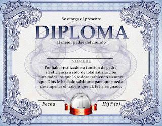 Diplomas para el Da del Padre  Dibujos para Nios