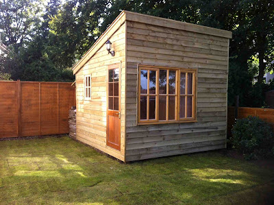 Shedworking building a garden office before and after - Sheds for small spaces property ...