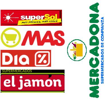 supersol, supermercados MAS, DIA, supermercados El Jamón, Mercadona