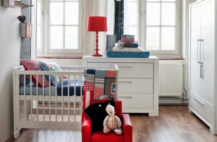 babykamer rood wit blauw ~ lactate for ., Deco ideeën