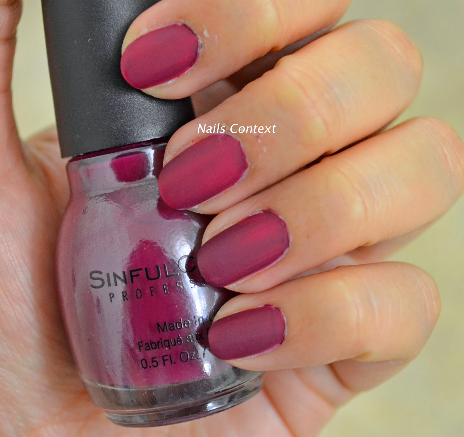Nails Context: SinfulColors Professional Leather Luxe collection