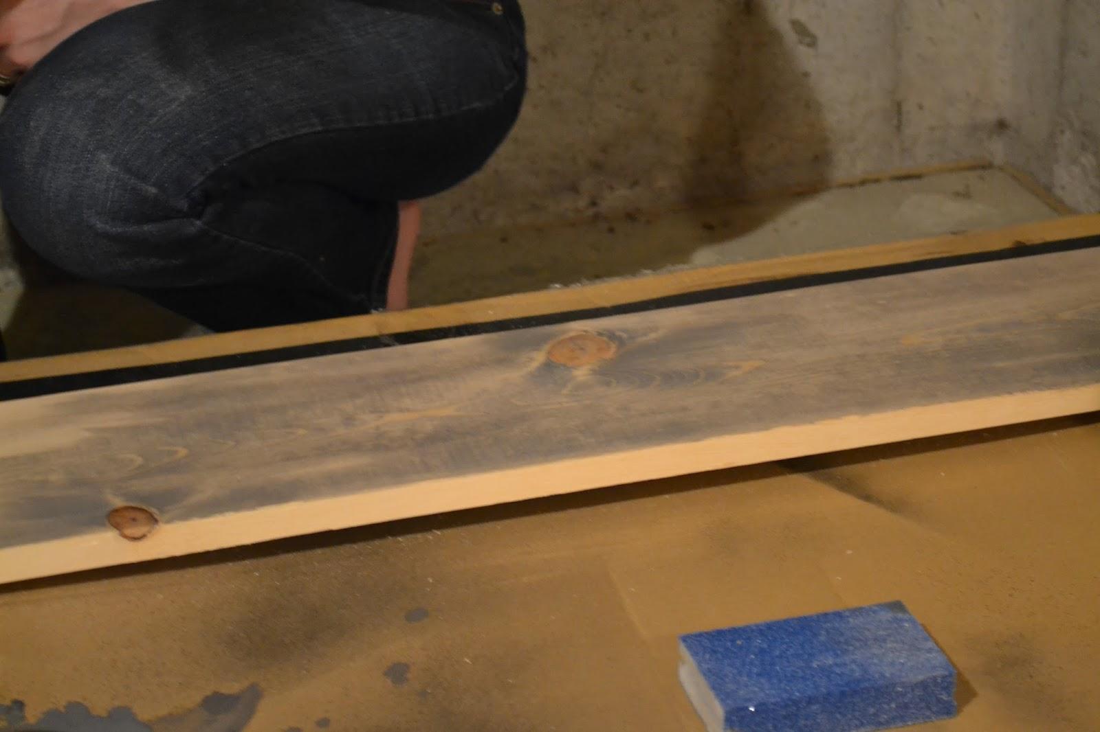 Stain DIY Headboard