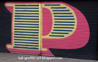 Graffiti Alphabet letter P