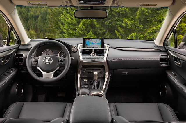 Interior view of 2015 Lexus NX 200t