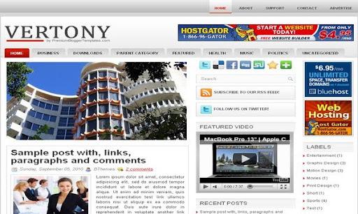20 Nuevas Plantillas para Blogger Gratis - Edición Mayo 2011 - Mente ...
