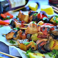 Grilled Honey Chicken Kabobs   by Life Tastes Good