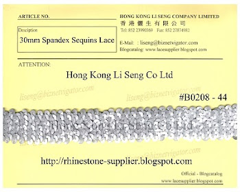 Spandex Sequins Lace Supplier - Hong Kong Li Seng Co Ltd