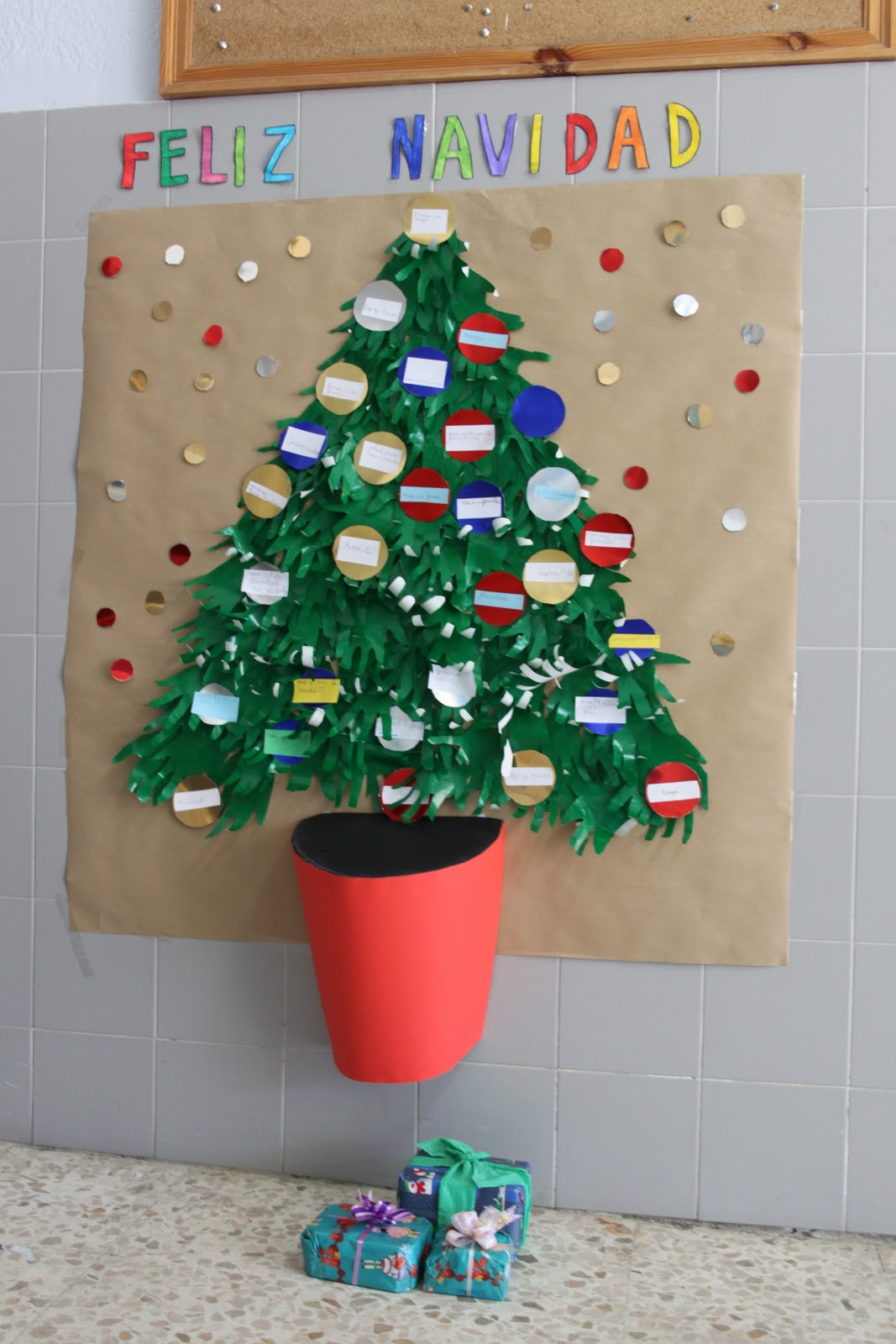 Biblioteca Buenavista Diciembre 2011 ~ Crismas De Navidad Hechos Por  Ninos