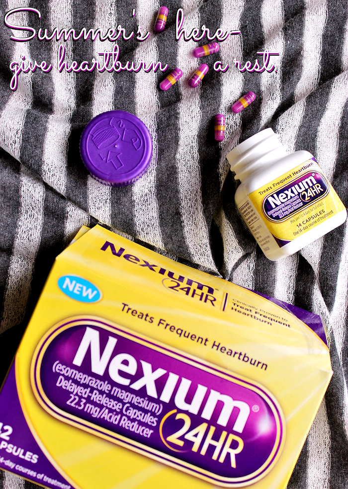 This Summer #GiveHeartburnARest with Nexium 24HR from Walgreens. Just one Nexium 24HR a day gives you all-day all-night protection from frequent heartburn. #ad