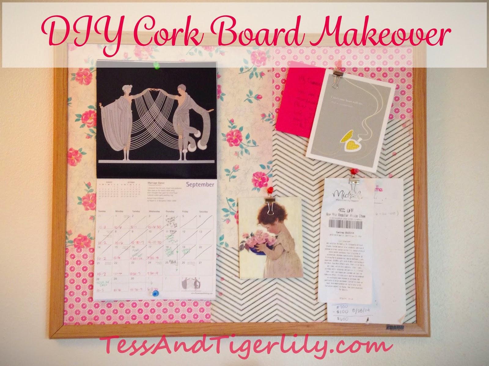 Scrapbook paper art projects - Diy Cork Board Makeover With Scrapbook Paper