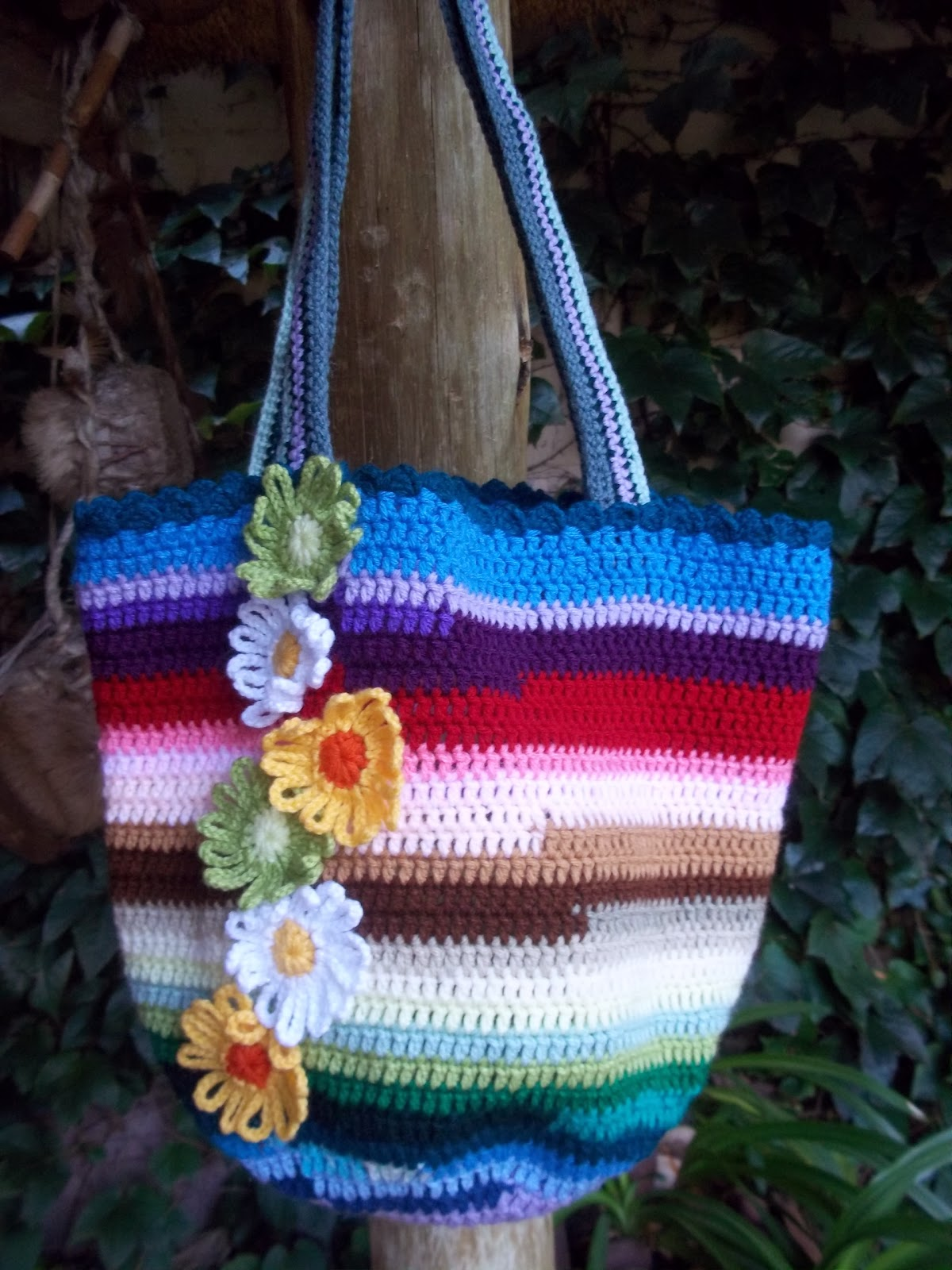 shabby crochet bag
